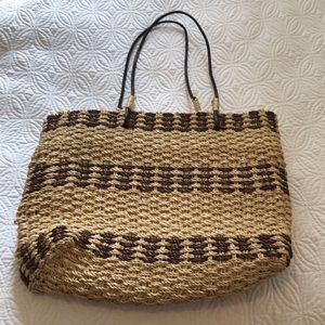 Vintage 1970 basket bag